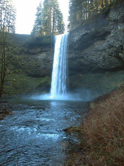 Silver Falls: South Falls in the Winter 03
