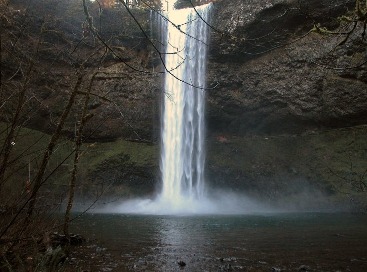 Silver Falls: South Falls in the Winter 13