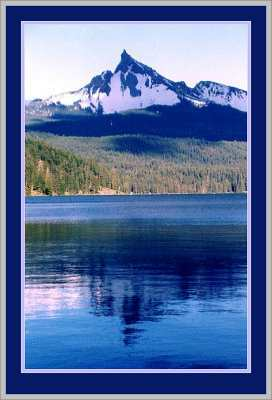 Mount Thielsen Reflected in Diamond Lake, Oregon