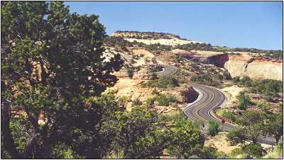 Road into Canyonlands National Park