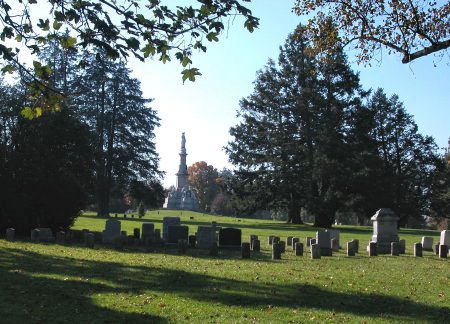 Rows upon rows of graves