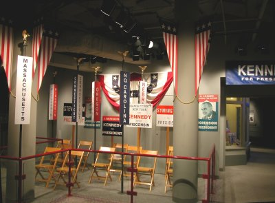 Replica of a campaign headquarters