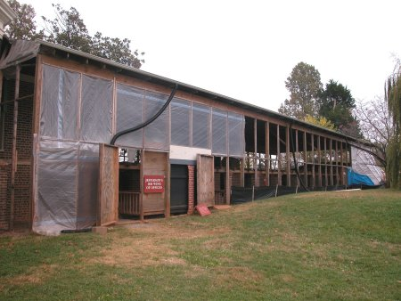 Offices and workshops at Popular Forest