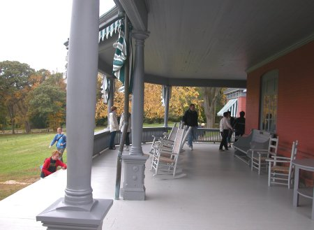 The front porch at Sagamore Hill