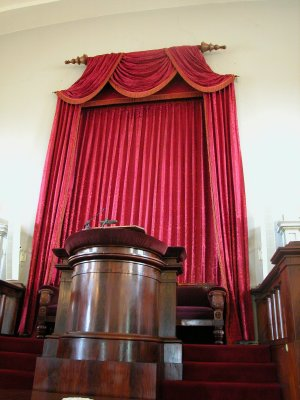Pulpit donated by John Adams