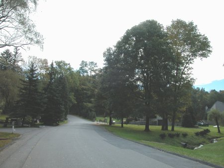 Street off which the Clinton residence is located