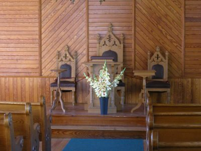 Union Christian Church interior