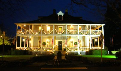Grant House at Christmastime