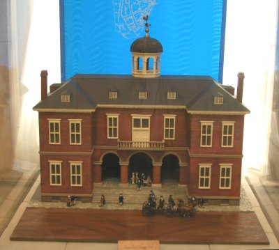 Model of Federal Hall in New York City; site of Washington's Inauguration