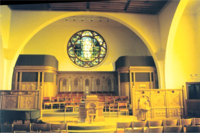 Interior of First Unitarian Church of Cincinnati, Ohio