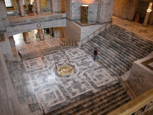 Rotunda with Great Seal embedded in floor