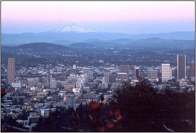 Mount Hood from Pittock Mansion in Portland