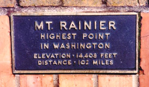 Mount Rainier sign from Council Crest
