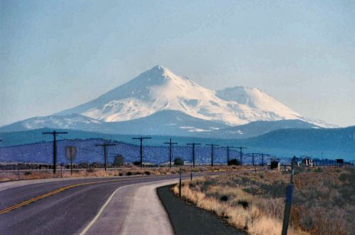 Mount Shasta with Shastine showing clearly