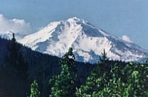 Mount Shasta from the south, June