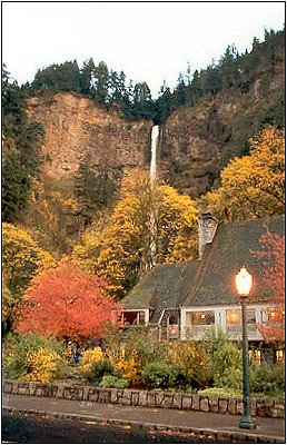 Multnomah Falls in the Autumn, #1