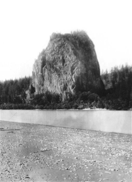 Carleton Watkins' photograph of Beacon Rock