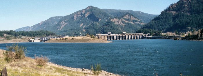 Bonneville Dam from the west
