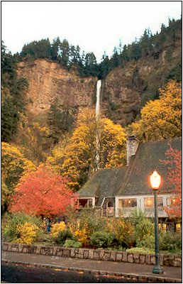 Multnomah Falls: Autumn Evening