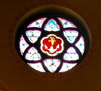Rose Window, Old St. Peter's Landmark