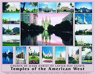 LDS Temple Poster